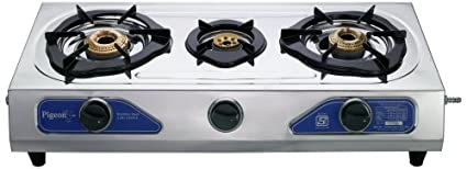 Stainless Steel Trio LPG Cooktop (3 Burner)