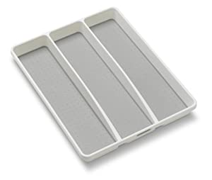 Madesmart 1-3/4 by 16 by 12-3/4-Inch Utensil Tray, White