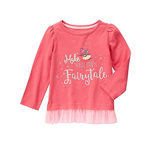 gymboree-girls-pink-fairytale-graphic-tee-with-tulle-sunkist-coral-18-24