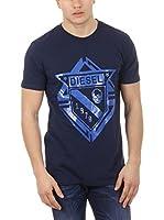 Diesel Camiseta Manga Corta T-Scod (Azul)