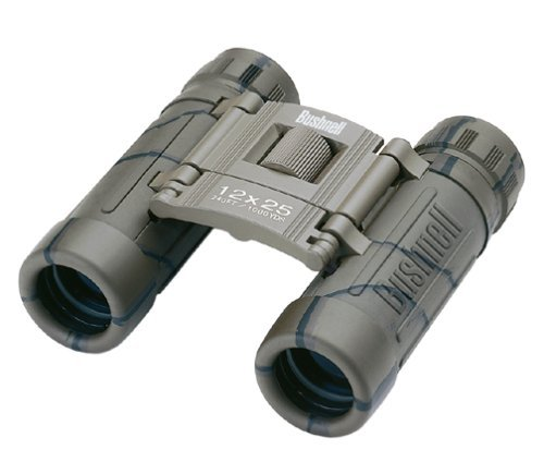 Bushnell Powerview 12X25 Compact Folding Roof Prism Binocular (Camouflage) Color: Camo Size: 12X25