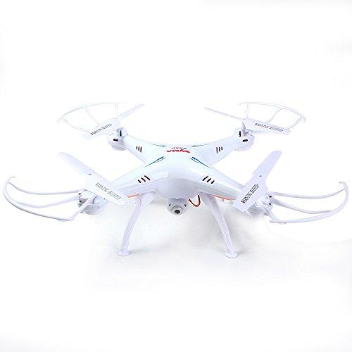 Syma X5SC Nuova Versione Syma X5SC-1 Falcon Drone videocamera HD Vibrazione di 4 Canali 2.4G Telecomando Quadcopter 6 Asse 3D Fly UFO 360 Gradi Eversione (Bianco\White)