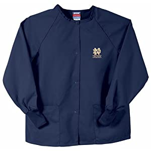 Notre Dame Fighting Irish NCAA Nursing Jacket (Navy) by Gelscrubs