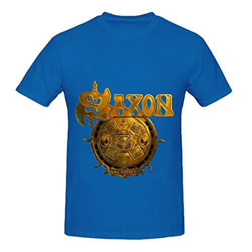 Saxon Sacrifice Jazz Men O Neck Slim Fit Tee Shirts Blue