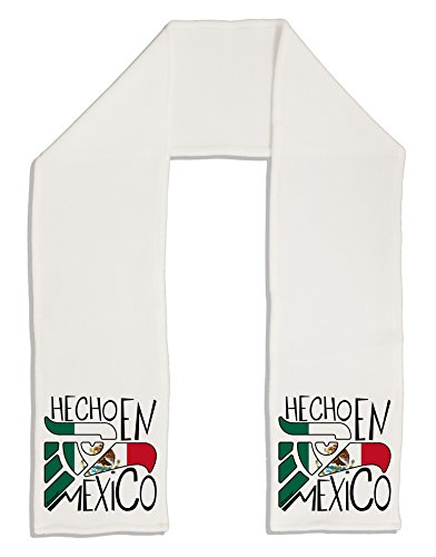 "TooLoud Hecho en Mexico Design - Mexican Flag Adult Fleece 64"" Scarf"