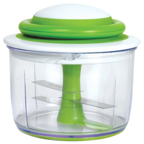 Chef'n VeggiChop Hand-Powered Food Chopper, Arugula