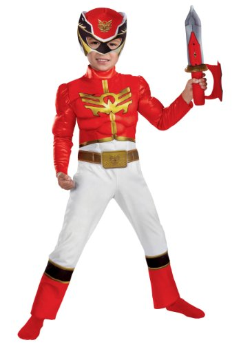 Disguise Power Rangers Megaforce Red Ranger Muscle Costume