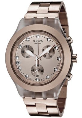 Swatch Ladies Watch Full Blooded Caramel Chronograph SVCK4047AG