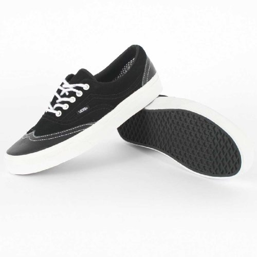 Vans - Mens M Era Wingtip Shoes In Leather/Suede Black, UK: 7.5 UK, Leather/Suede Black