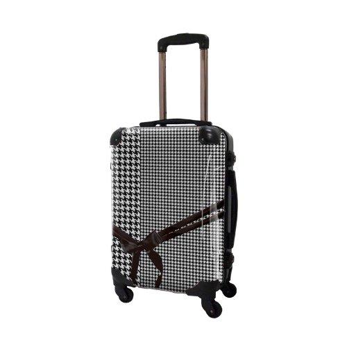 キャラート アートスーツケース ベーシック 千鳥格子フレーム4輪 機内持込 (CRA01-024B(モノトーン2))