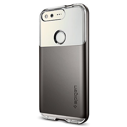 Spigen-Neo-Hybrid-Crystal-Google-Pixel-Case-with-Flexible-Inner-Casing-and-Reinforced-Hard-Bumper-Frame-for-Google-Pixel-2016-Gunmetal