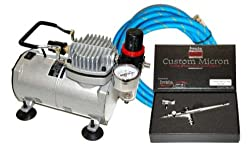 IWATA CUSTOM MICRON CM-SB AIRBRUSHING SYSTEM WITH AIRBRUSH-DEPOT MODEL TC-20