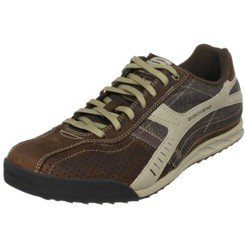 Skechers Men's Ascoli-Marche Brown/Taupe Lace Up 50985 12 UK