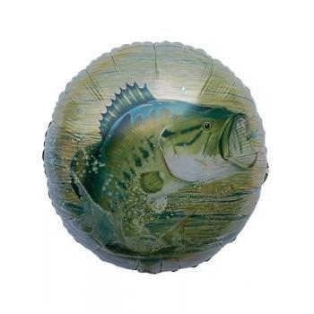 """Havercamp Gone Fishin Camo Party Supplies Gone Fishin 18"""" Mylar Balloon"""