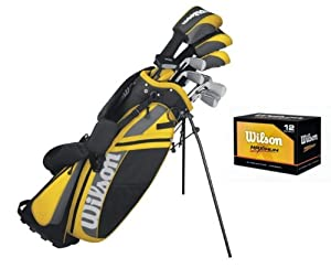 WILSON ULTRA Mens Right Handed Complete Pkge Golf Club Set w  Bag + 12 Balls by Wilson