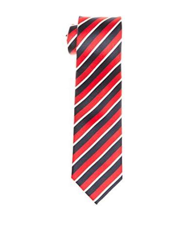 Cortefiel Cravatta Seta [Rosso/Blu Navy]