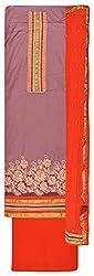 Royal Women's Cotton Unstitched Salwar Suit (Red)