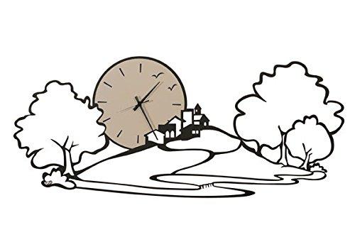 arti-mestieri-orologio-paesaggio-nero-2675-grande-formato