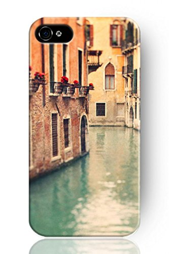 Sprawl Original New Print Hard Skin Case Cover Shell For Mobilephone Apple Iphone 4 4S, Interesting Fashion Design With Water In Venice front-412039