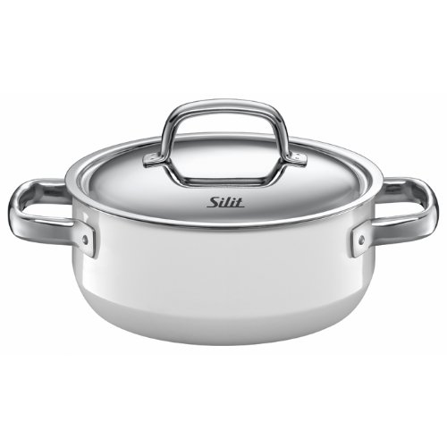 Silit Fresh 2-1/2-Quart Low Casserole with Lid, Polar White (Silit Sauce compare prices)