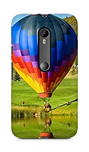 Amez designer printed 3d premium high quality back case cover for Moto G Turbo Edition (Hot Air Balloon Sightseeing)