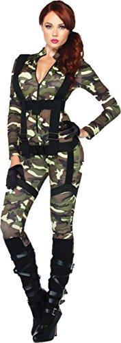 Leg Avenue Womens Sexy Pretty Paratrooper Army Military Fancy Halloween Costume