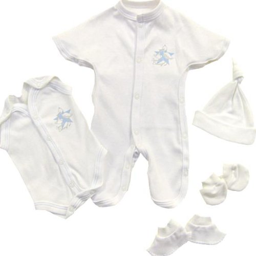 Premature Baby Clothes 5 Piece SCBU Gift Set - Sleepsuit, Bodysuit, Hat,Mittens & Bootees 1 - 5.5lb Pink or Blue