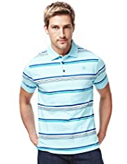 Blue Harbour Slim Fit Pure Cotton Striped Polo Shirt