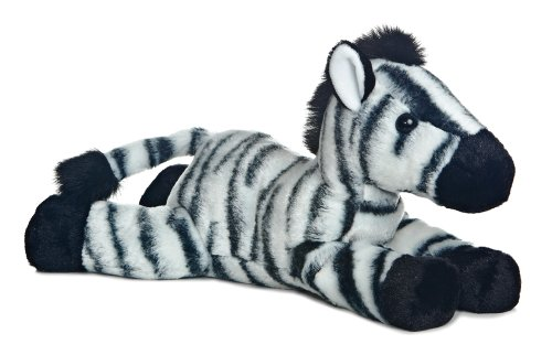 "12"" ""Zest"" Zebra Flopsie"