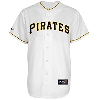 MLB Pittsburgh Pirates Andrew Mccutchen White Home Short Sleeve 6 Button Synthetic... by Majestic