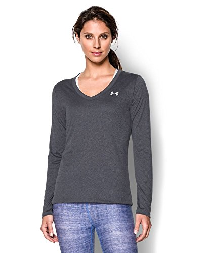 Under Armour Women's Tech Long Sleeve, Carbon Heather (090), Small