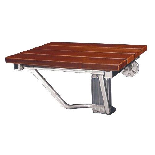 DreamLine SHST-01-TK Folding Shower Seat, Natural Teak Wood