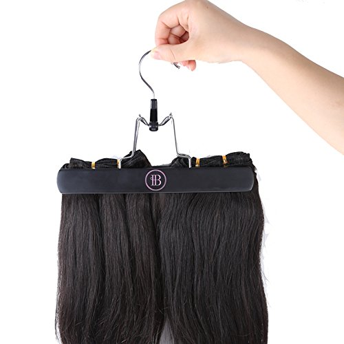 10 Inch Wooden Hair Extensions Hanger for Virgin Hair & Clip in Hair Extensions Storage