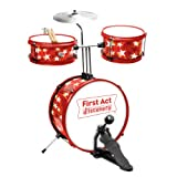 First Act FD5058 Drum Set, Red with Stars