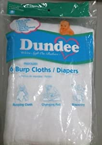 Dundee Burp Cloths/Diapers - White