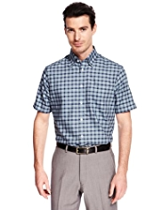 Collezione Pure Cotton Short Sleeve Checked Shirt