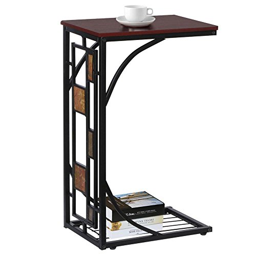 Yaheetech Living Room Sofa Side End Snack Table Tray Stand Rack (Iron Tv Stand compare prices)