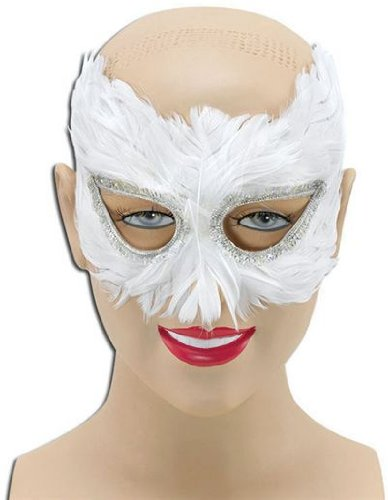 White Feather Eye Mask