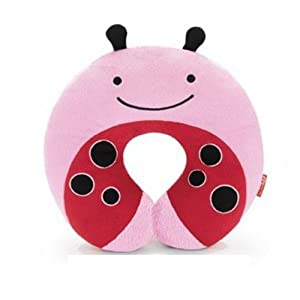 Hengsong Plush Soft Toy Childrens Car Seat Travel Neck Rest Pillow (Pink-670325)