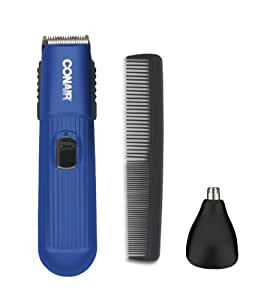 conair gmt100bdcs battery operated 2 in 1 beard and mustache trimmer beauty. Black Bedroom Furniture Sets. Home Design Ideas