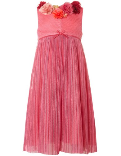 Monsoon Girls Scarlette Dress Size 8-9 Years Pink