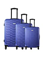 ZIFEL Set de 3 trolleys rígidos TD402 (Azul)