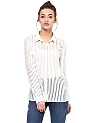White Sheer Stripe Shirt( DS-1599706-966_WHT_M)