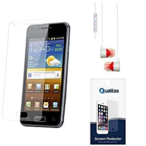 Qualitas Ultra Clear Pack of 7 Anti-Glare Anti-Scratch Anti-Fingerprint Screen Protector for Asus Zenfone 5 + White Stereo Earphone with Mic and Volume Control