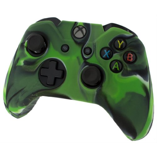 Silicone Skin Protective Cover For Xbox One Controller [Camouflage Green]