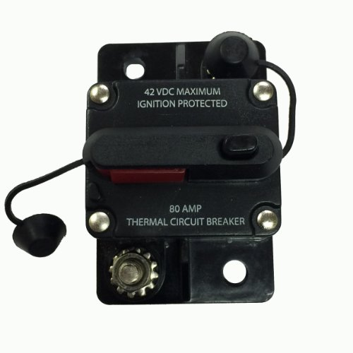 WirthCo 31201 Battery Doctor 80 Amp Manual and Switchable Reset Circuit Breaker with Terminal Cover