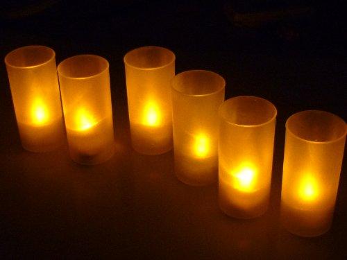 Life connection LED キャンドル ライト ゆらぐ自然な灯り(6本)