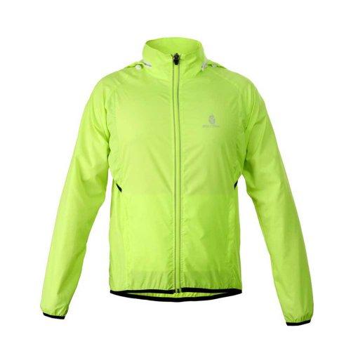 Toptie Cycling Jacket, Long-Sleeve Wind Jacket Lime-S