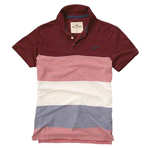 hollister-polo-polo-basico-manga-corta-para-hombre-rojo-burgundy-stripe-large