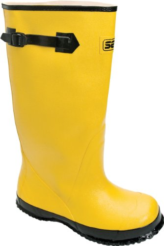 Honeywell Safety A380-11 Servus Hi Strap-On Mid Overboot, Size-11, Yellow